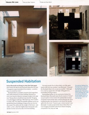 dwell Magazin, September 2005, innen