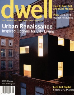 dwell Magazin, Cover, September 2005,